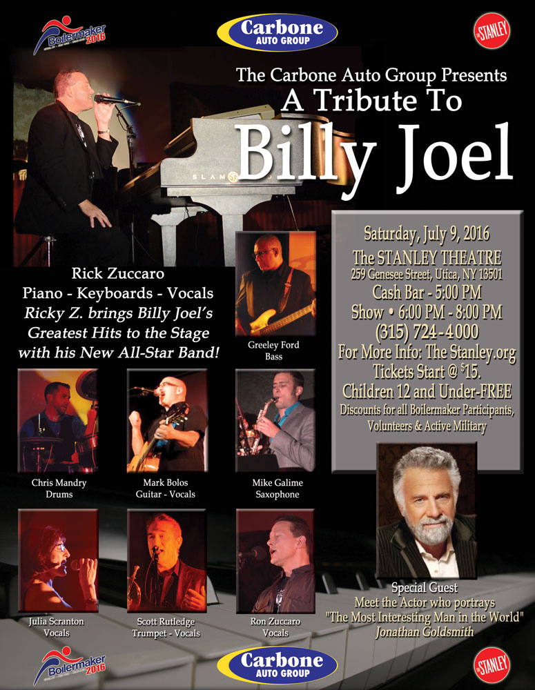 The Carbone Auto Group presents: Rick Z's Tribute to Billy Joel