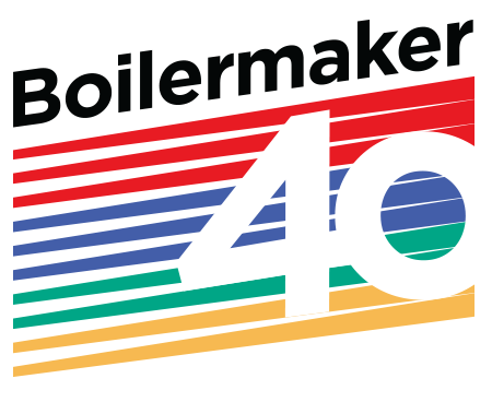 Boilermaker Road Race 40th Anniversary logo