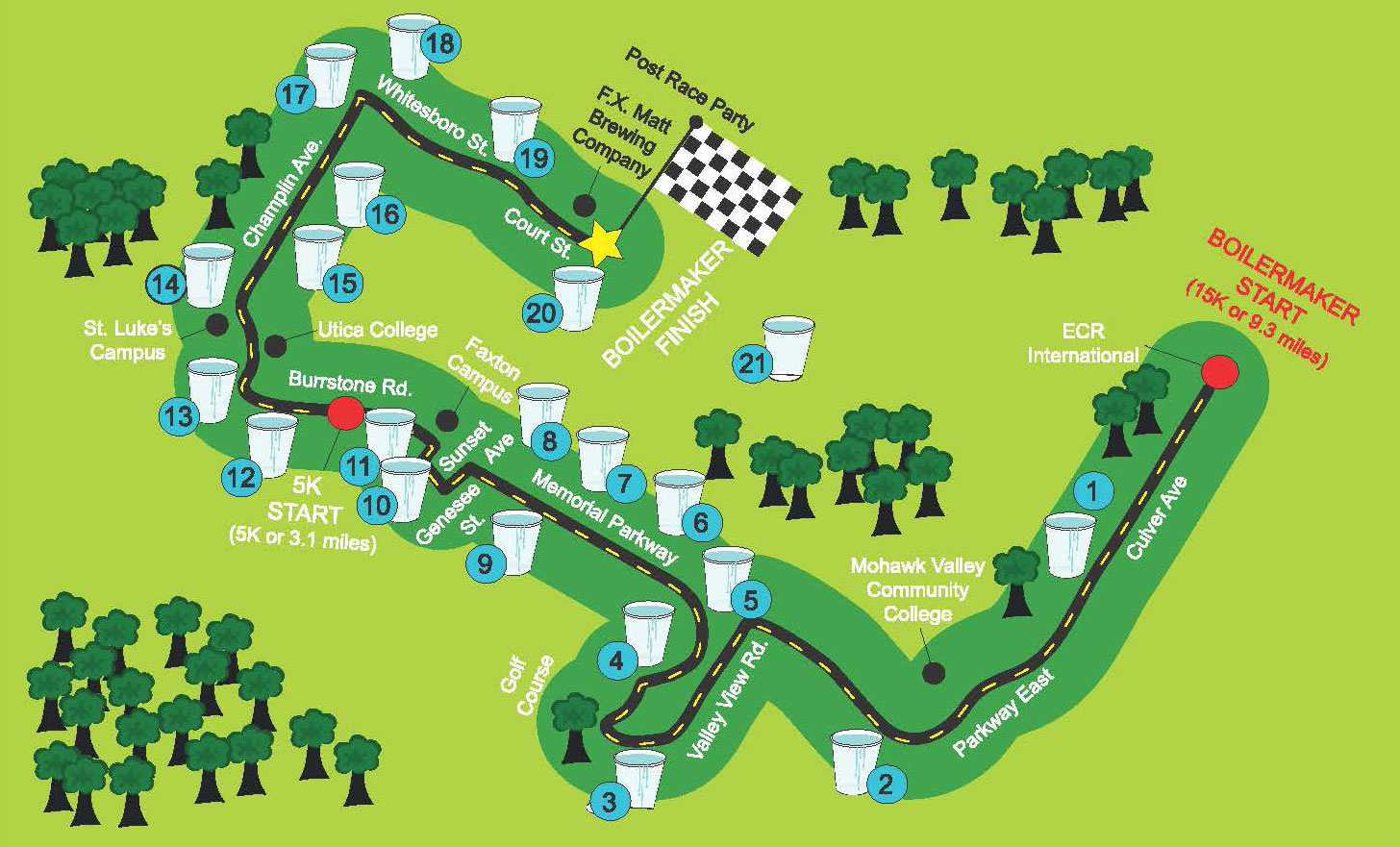 Water Stations Map