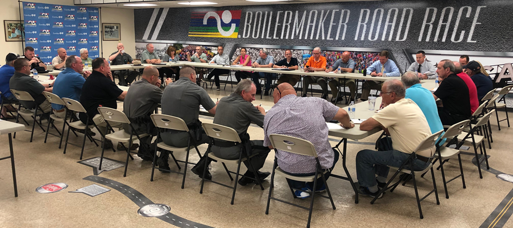 Photo from the final Safety committee meeting.