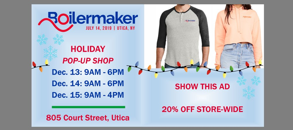 Holiday Pop-Up Shop: Show this ad for 20% off store-wide!