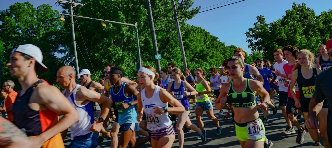Runners at the 2018 Boilermaker Road Race